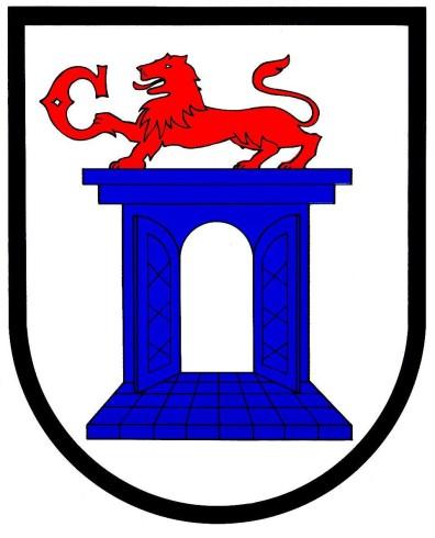 stemma comune di chiasso leone blue e rosso logo